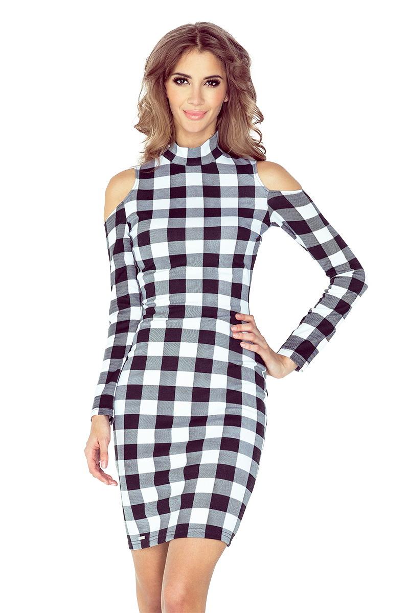 Dámské šaty Morimia 008-2 černo-bílé (velikost XS)