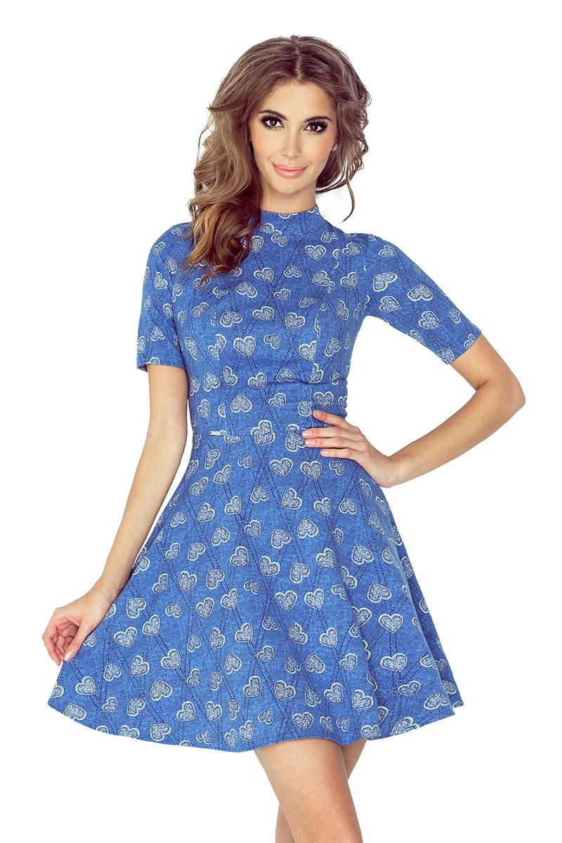 Dámské šaty Morimia 011-1 džínové (velikost S)