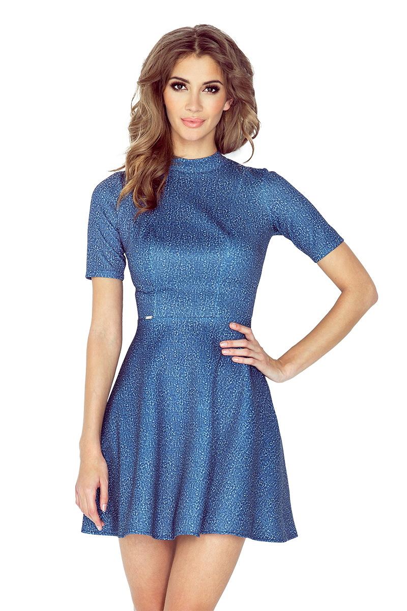 Dámské šaty Morimia 011-2 džínové (velikost XL)