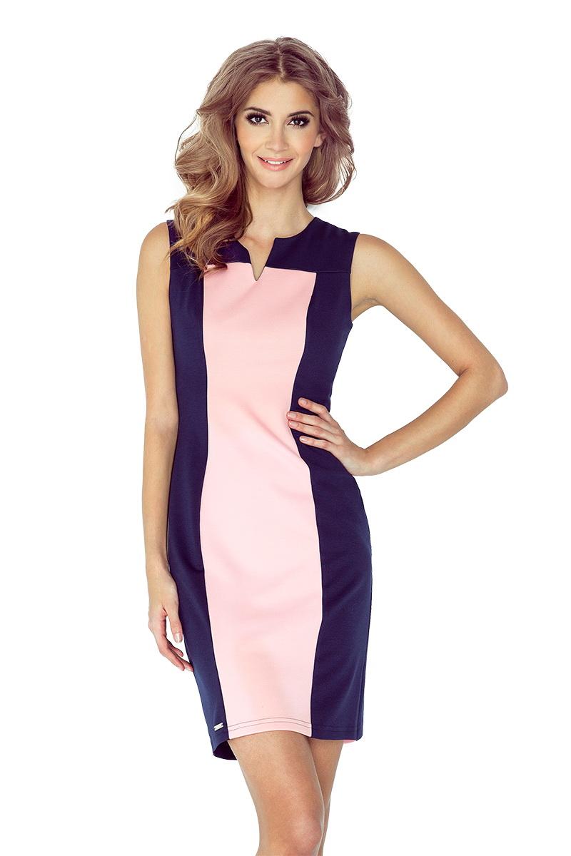 Dámské šaty Morimia 006-2 modro-růžové (velikost XS)