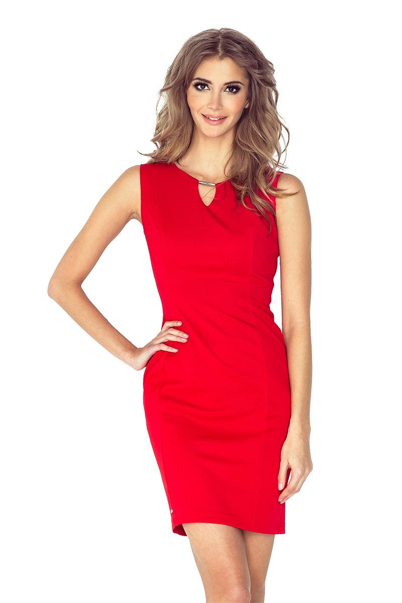 Dámské šaty Morimia 005-1 červené (velikost XL)