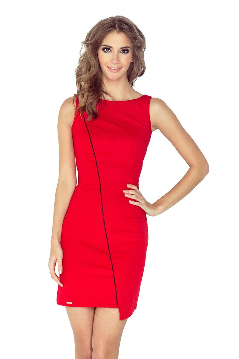 Dámské šaty Morimia 004-4 červené (velikost XL)