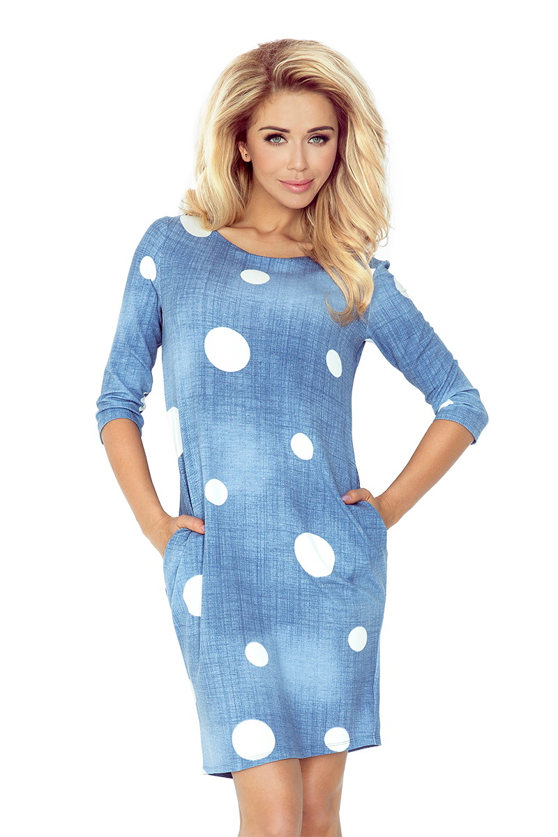 Dámské šaty Numoco 40-11 džínové (velikost S)