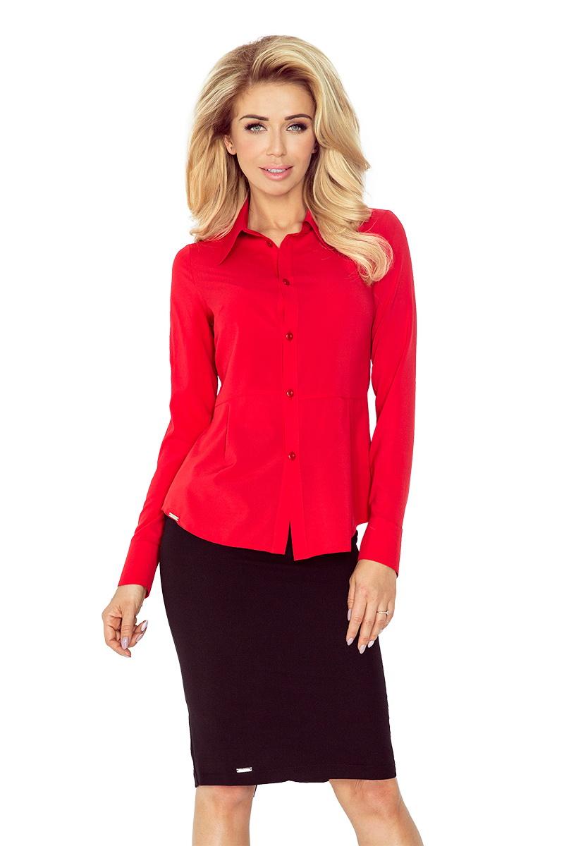 Dámská košile Morimia 016-1 červená (velikost XS)