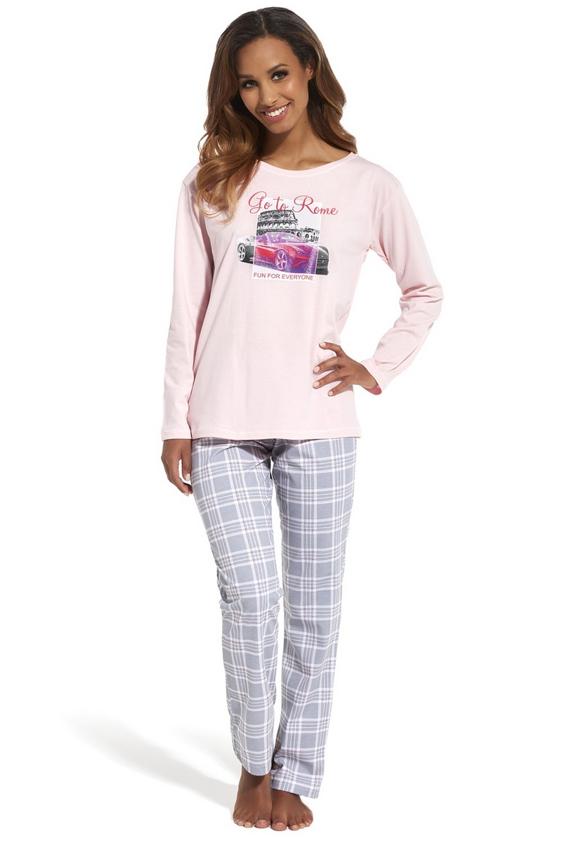 Dámské pyžamo Cornette 655126 Go to Rome růžové (velikost L)