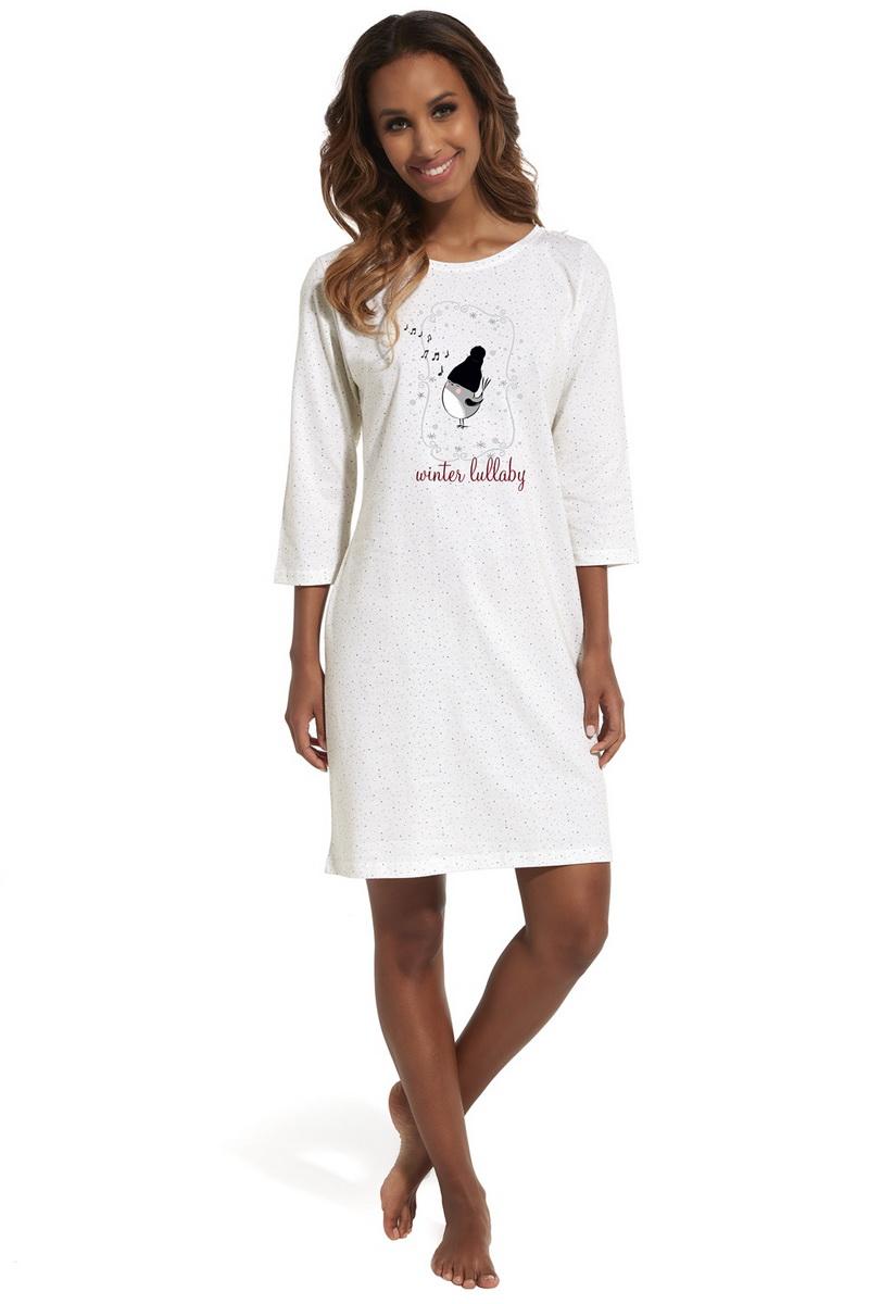 Noční košile Cornette 641155 Lullaby 3 krémová (velikost XL)