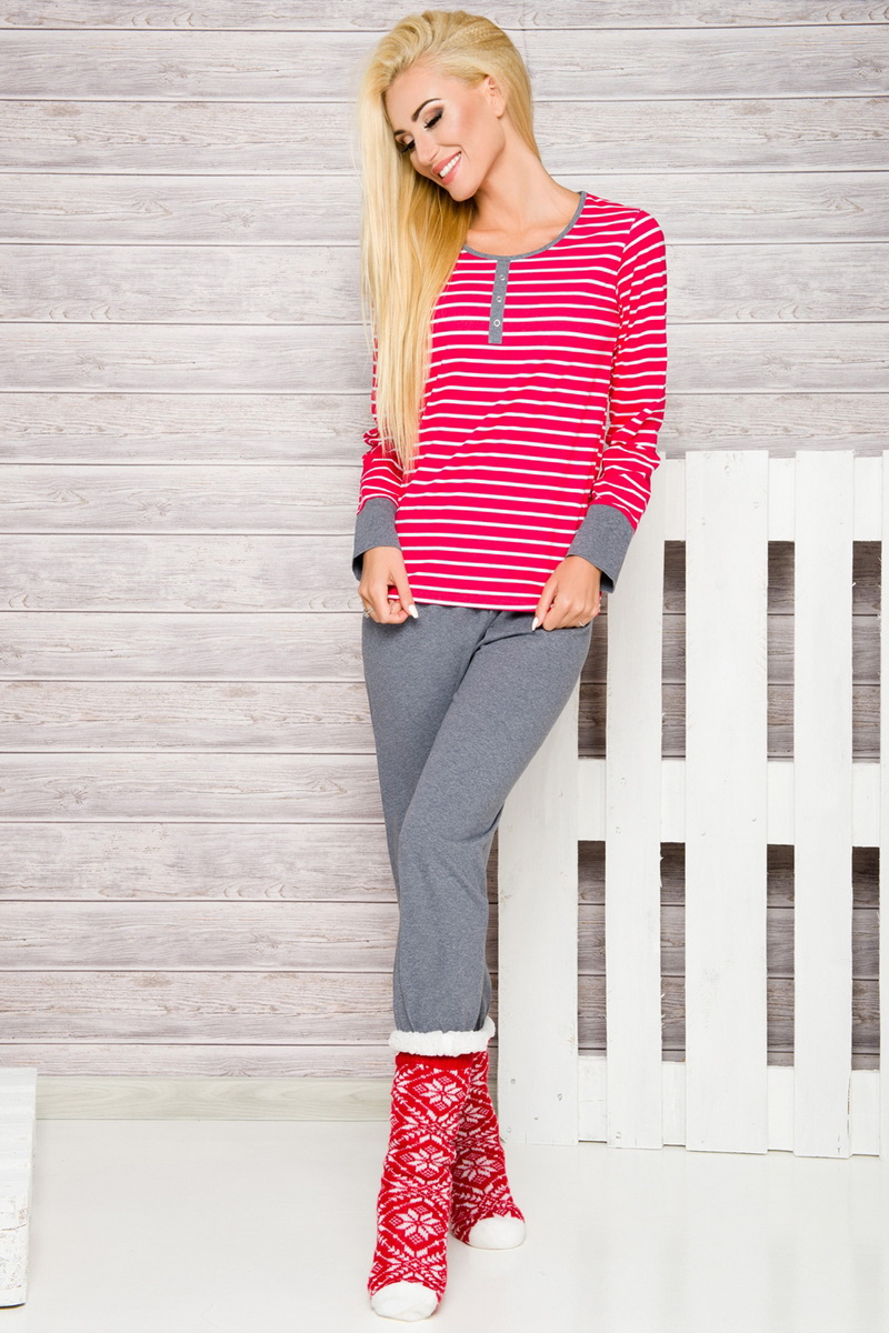 Dámské pyžamo Taro 2120 červené (velikost L)