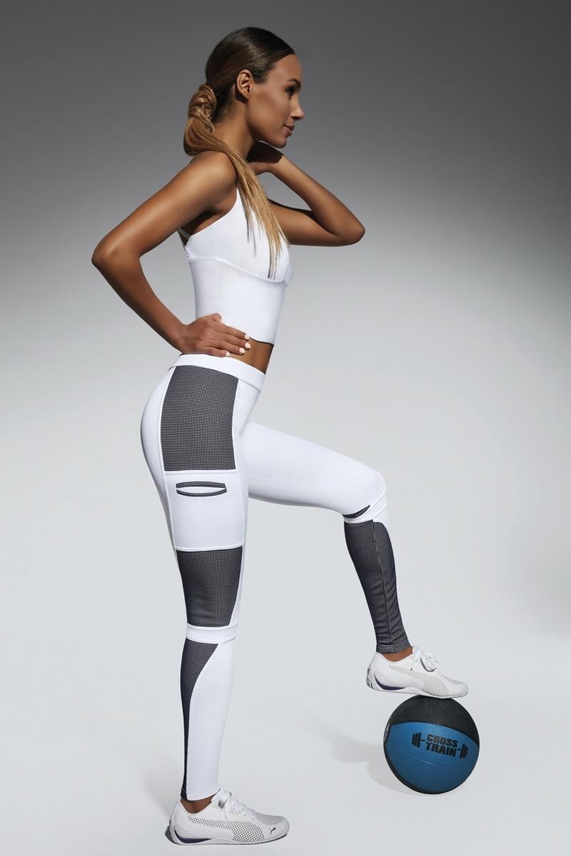 Fitness legíny BasBleu Passion bílé (velikost M)