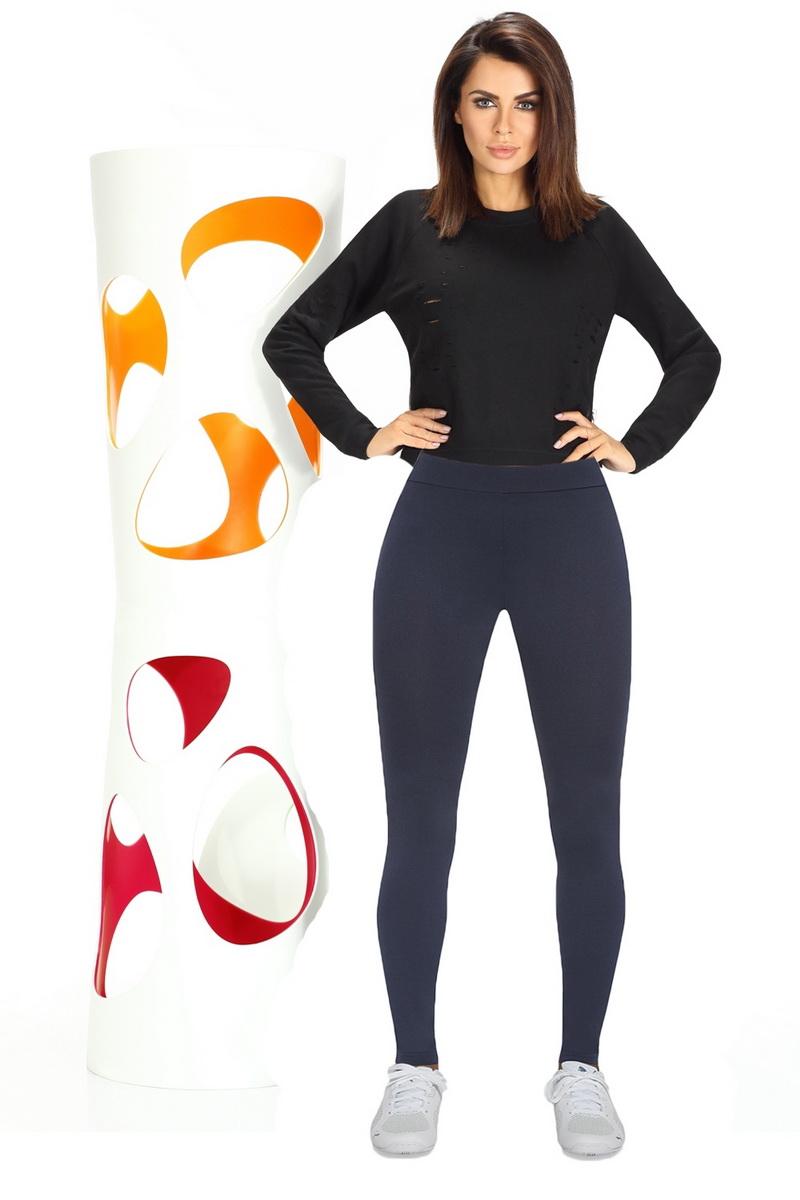 Fitness legíny BasBleu Imagin modré (velikost L)