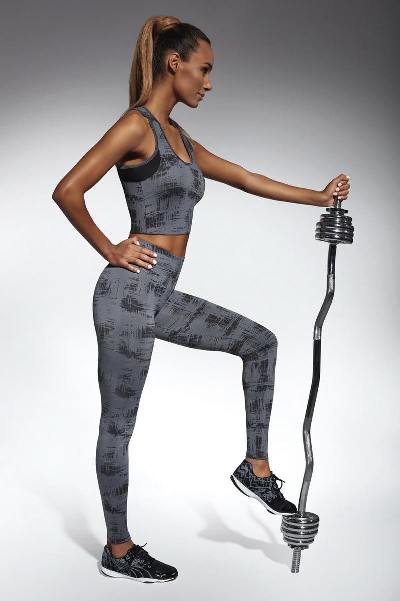 Fitness legíny BasBleu Intense černé (velikost L)