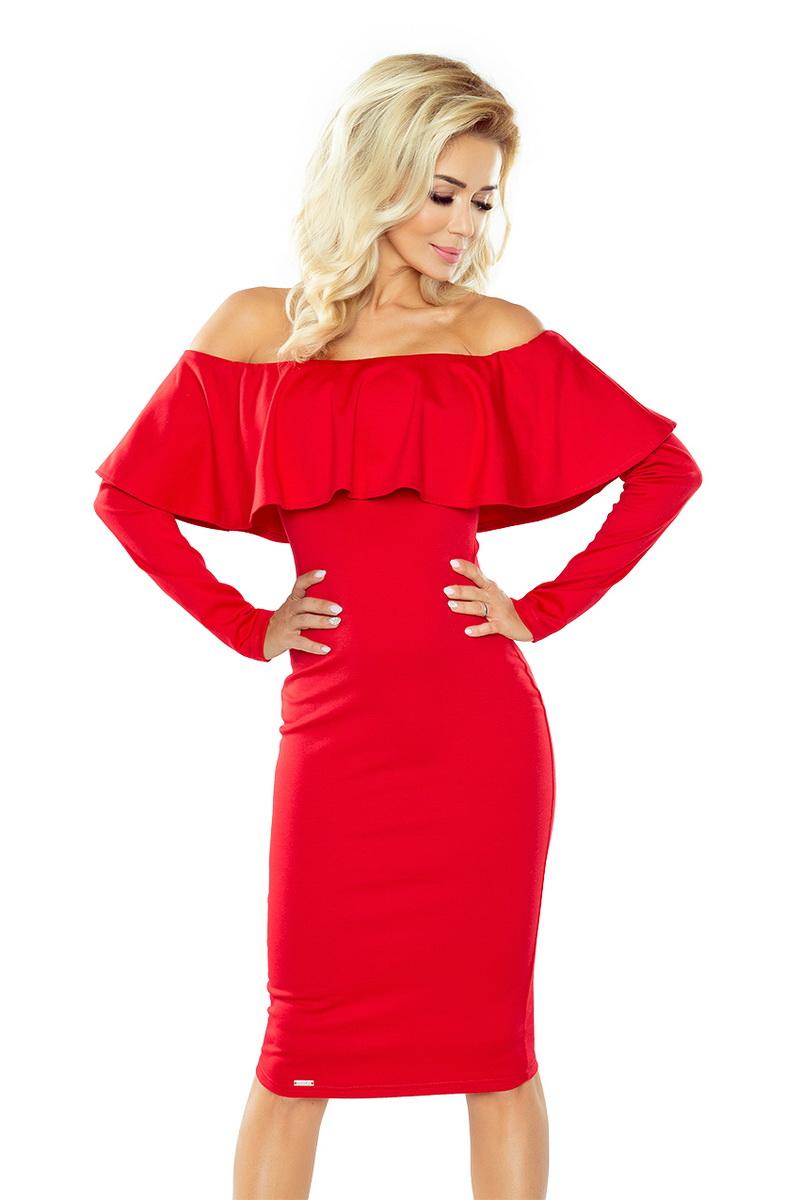 Dámské šaty Numoco 156-2 červené (velikost XL)