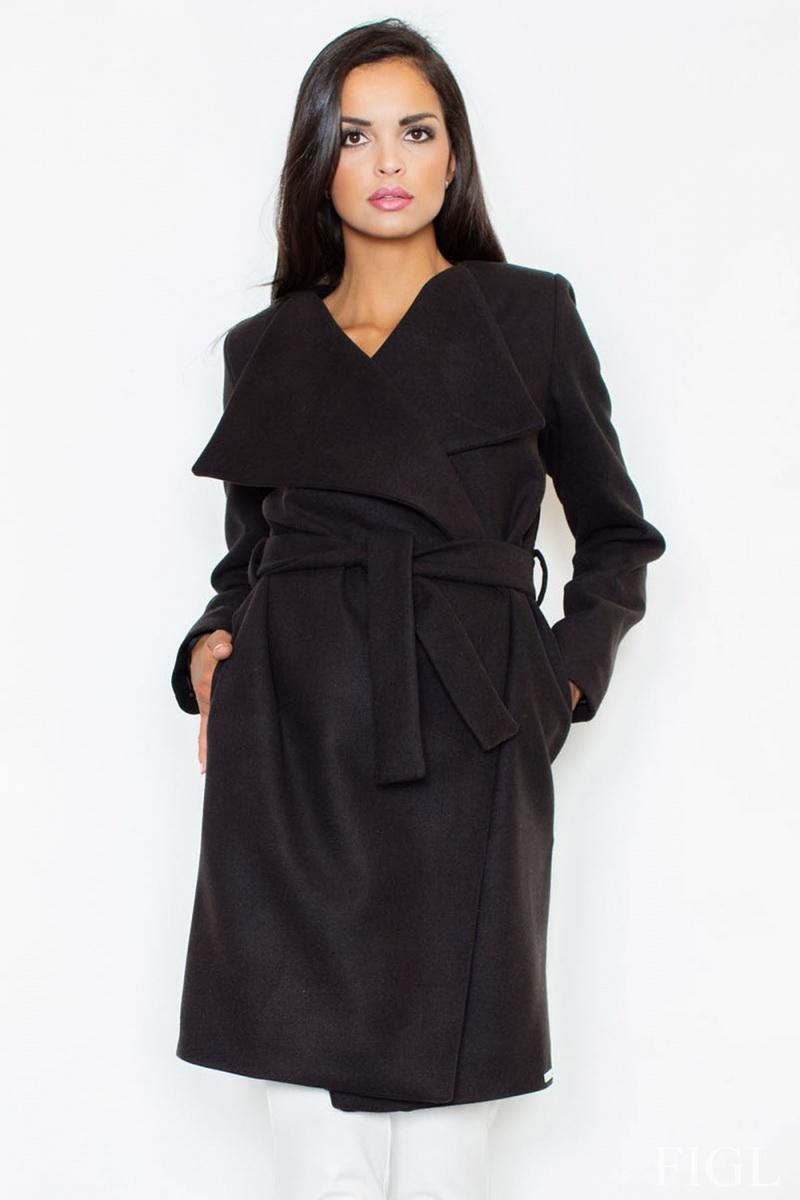 Dámský kabát Figl M408 černý (velikost L)