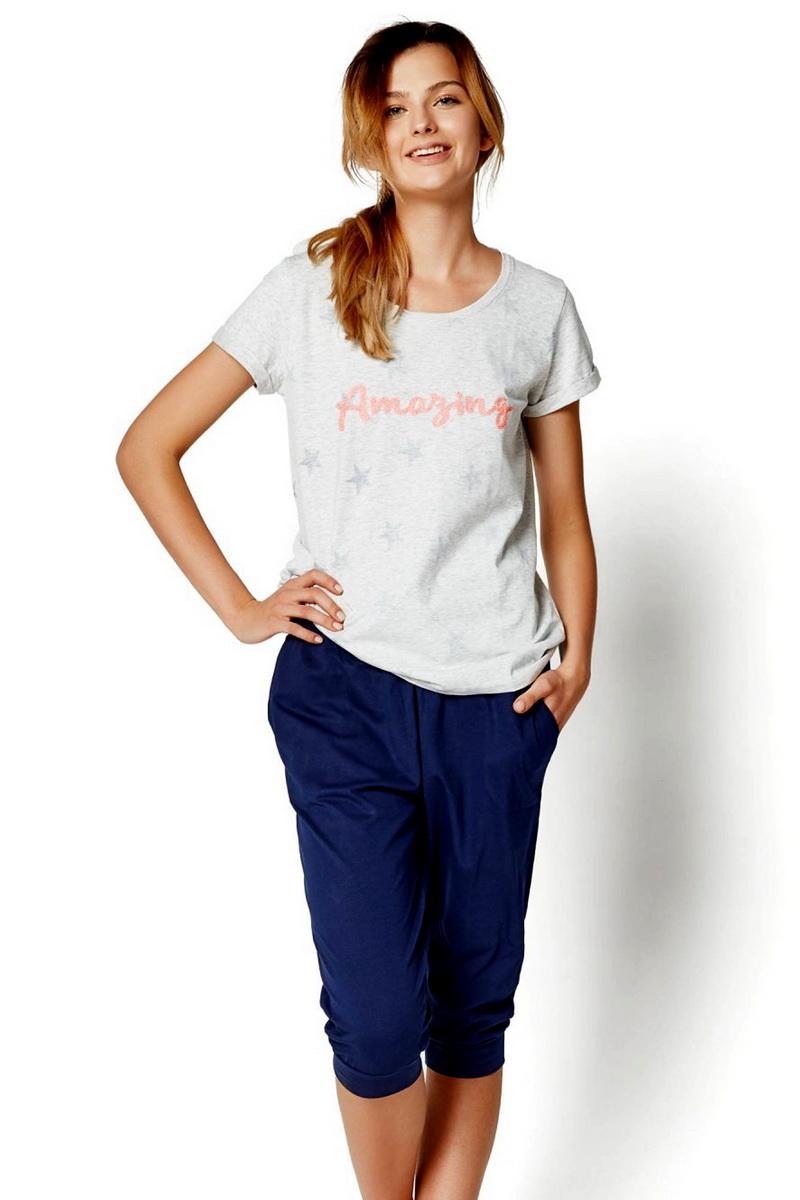 Dámské pyžamo Esotiq 35252 šedé (velikost M)