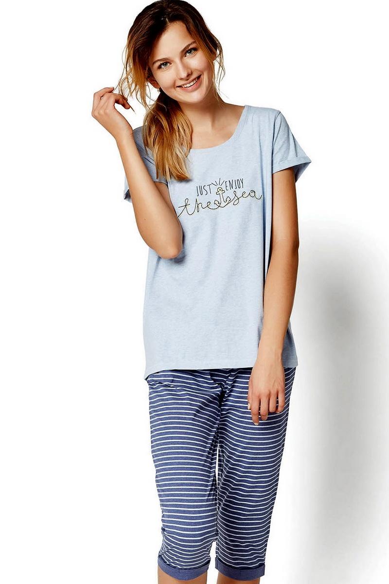 Dámské pyžamo Esotiq 35248 modré (velikost S)