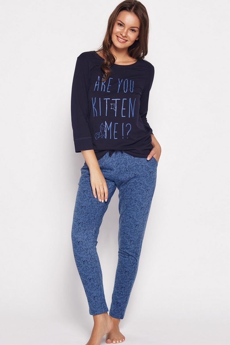 Dámské pyžamo Esotiq 35601 modré (velikost M)