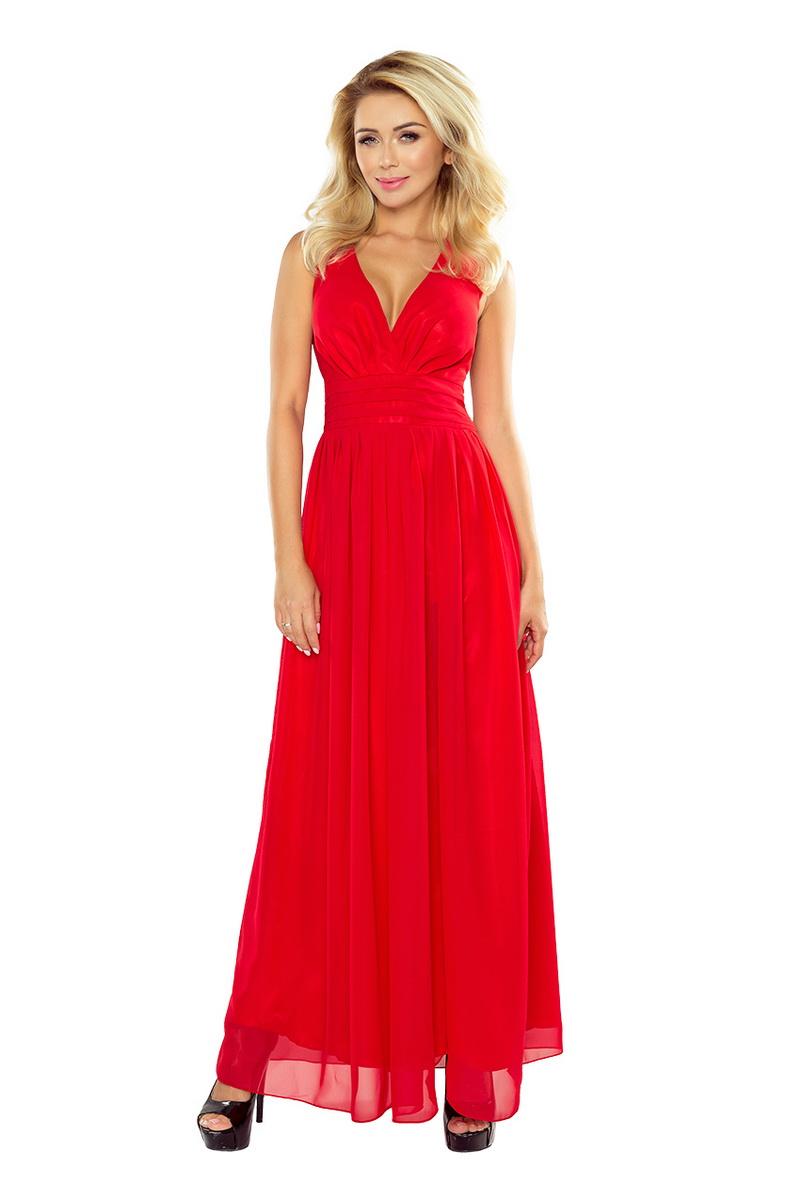 Dámské šaty Numoco 166-2 červené (velikost XL)
