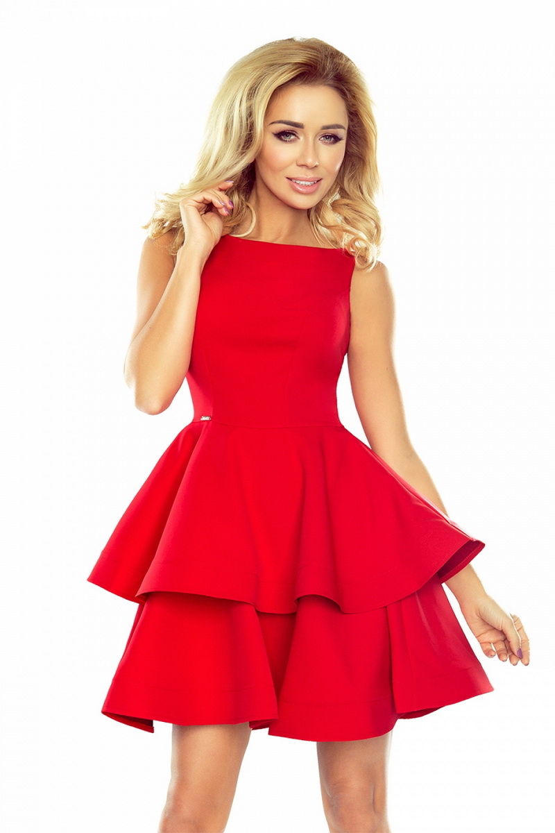 Dámské šaty Numoco 169-1 červené (velikost XL)