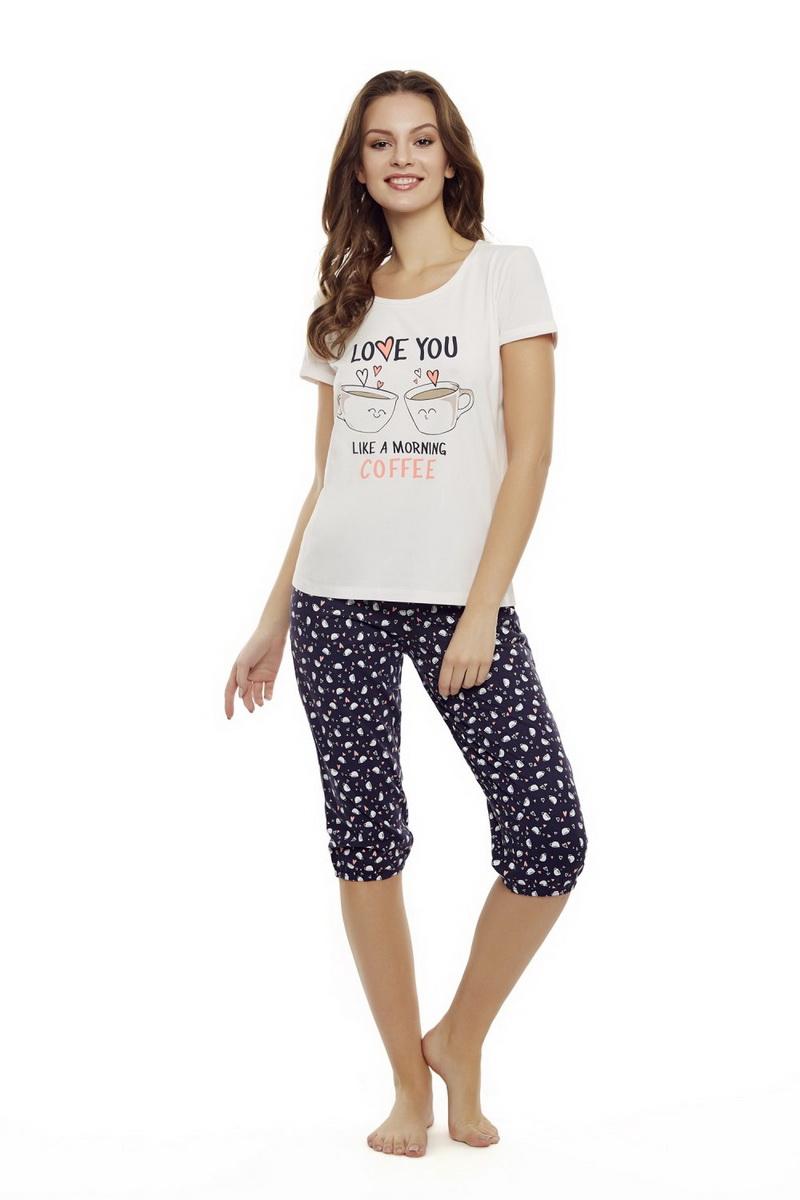 Dámské pyžamo Esotiq 35832 meruňkové (velikost M)