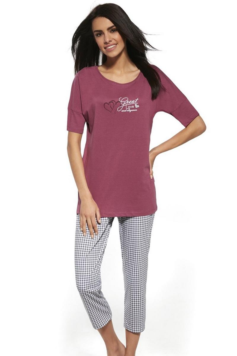 Dámské pyžamo Cornette 087131 Great love růžové (velikost L)