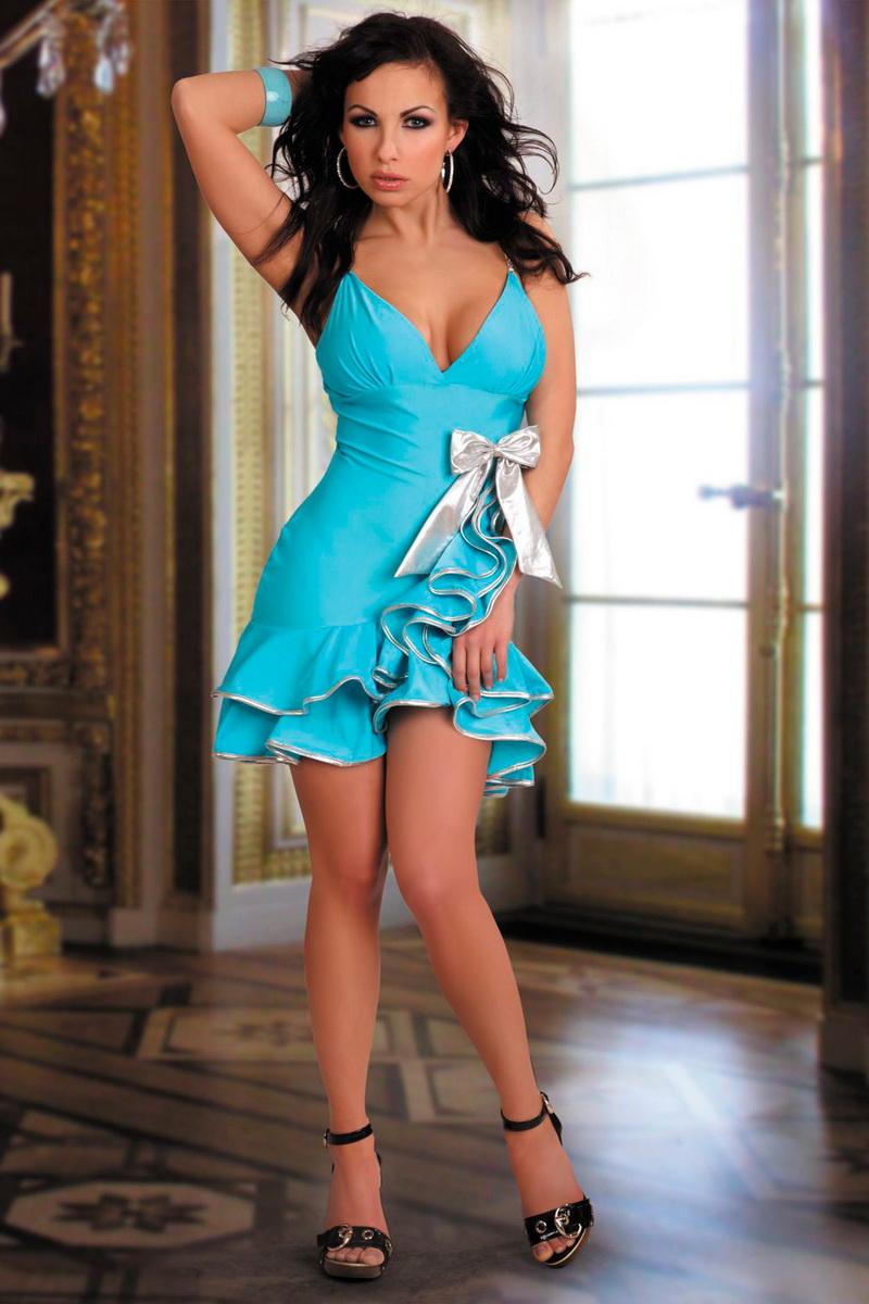 Dámské šaty LivCo Corsetti Caprice modré (velikost M)
