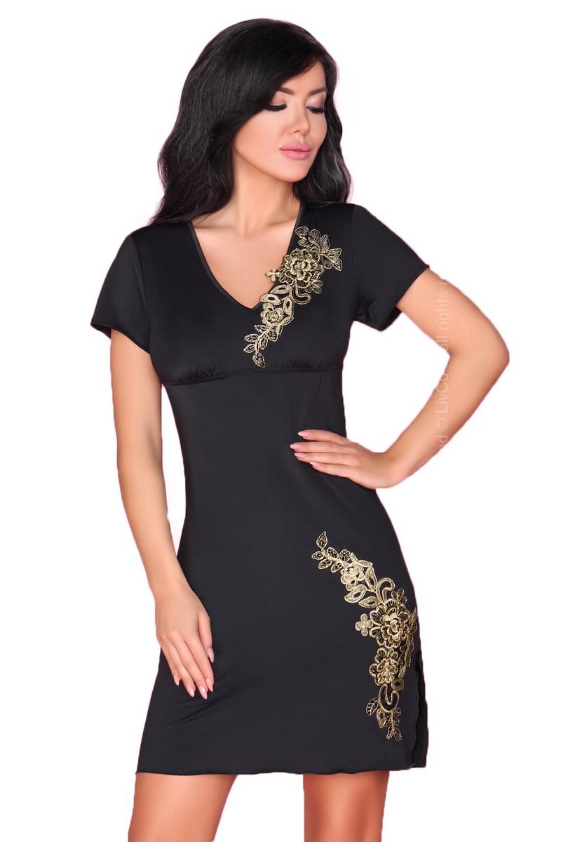 Dámská košilka LivCo Corsetti Medea černá (velikost S/M)