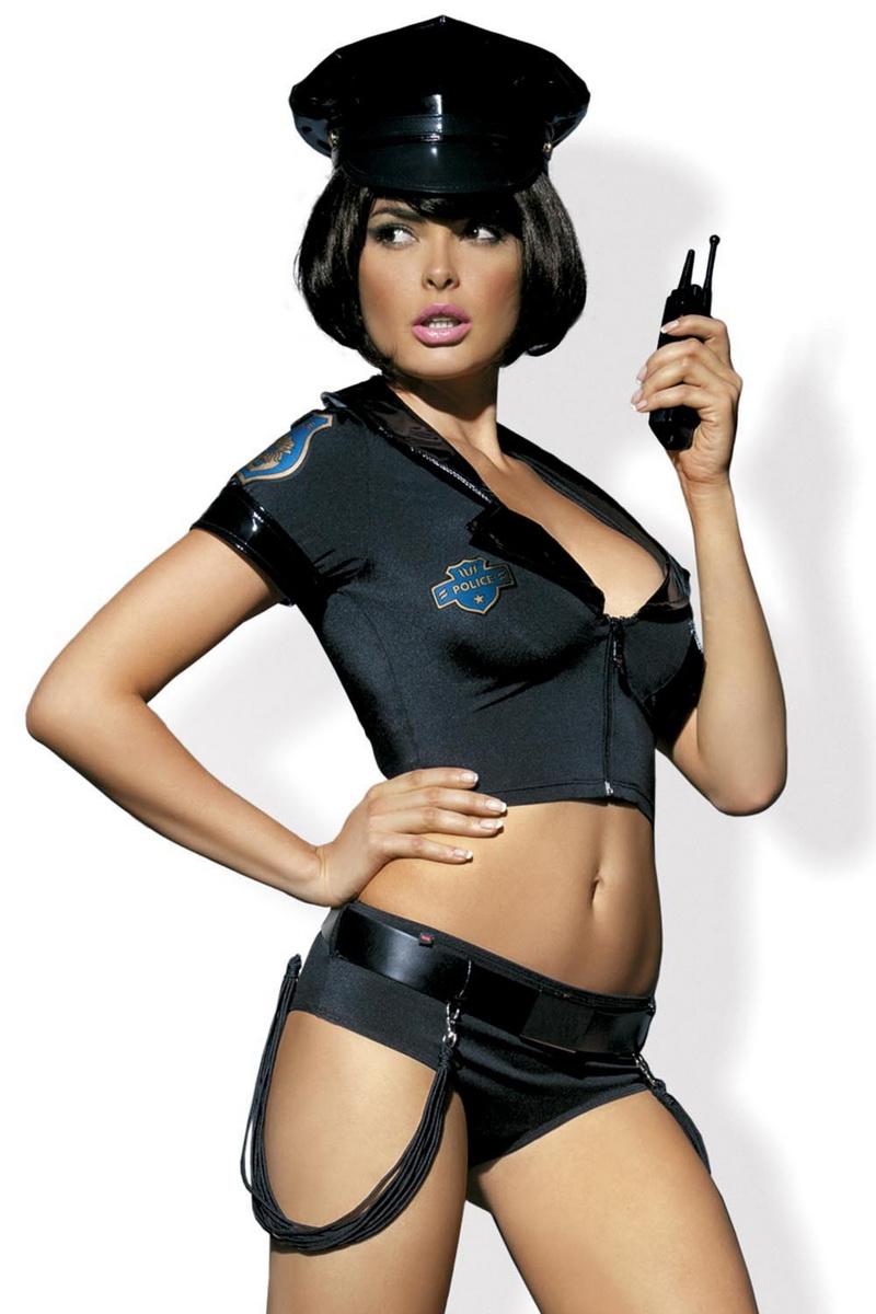 Dámský kostým Obsessive Police Set černý (velikost S/M)