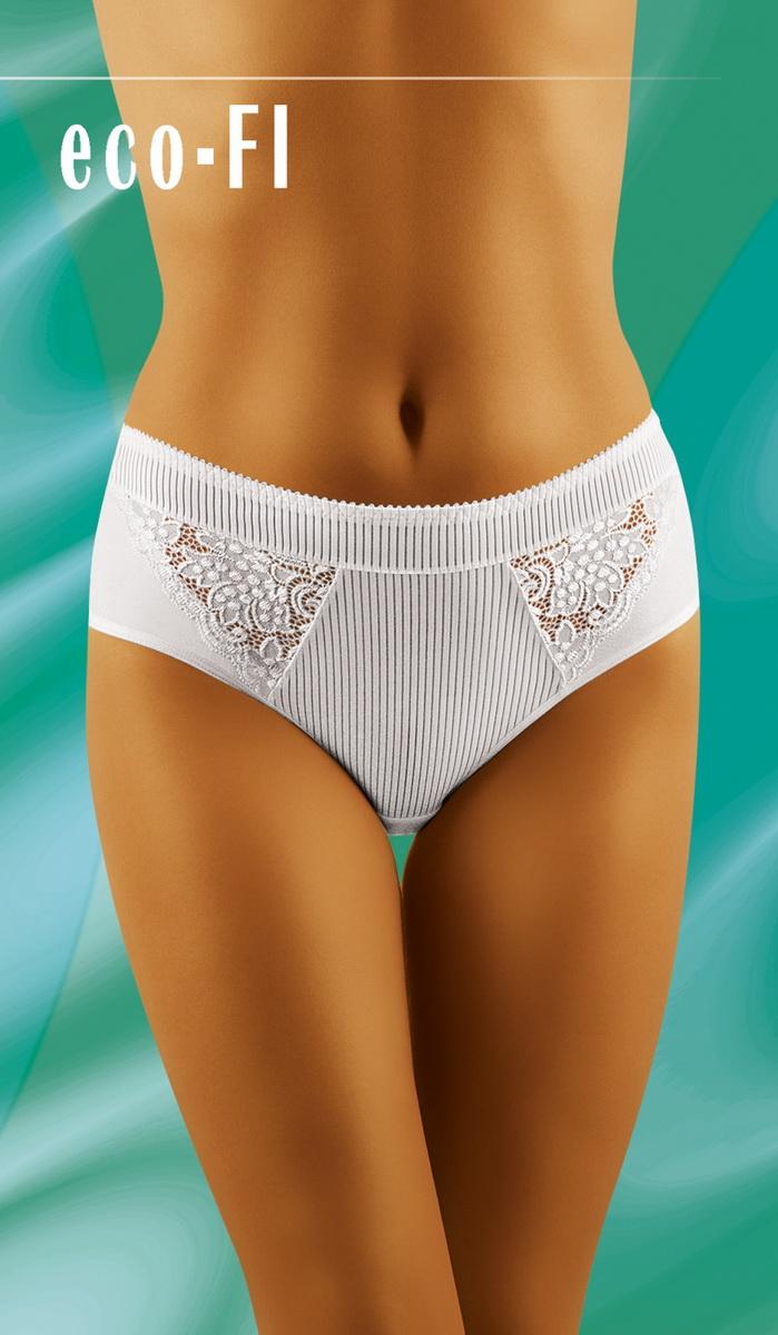 Dámské kalhotky Wolbar eco-FI bílé (velikost XXL)
