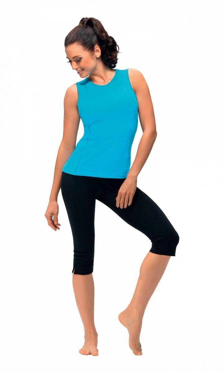Fitness capri kalhoty gWinner Gabi černé (velikost M)