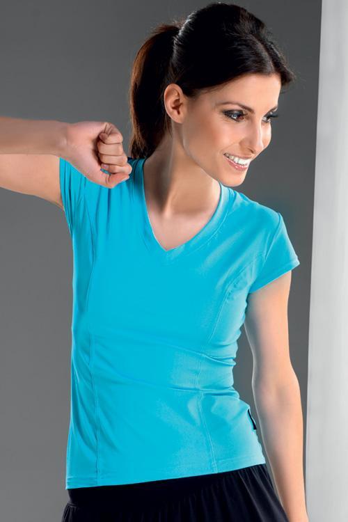 Dámské tričko gWinner Gracia tyrkysové (velikost XL)
