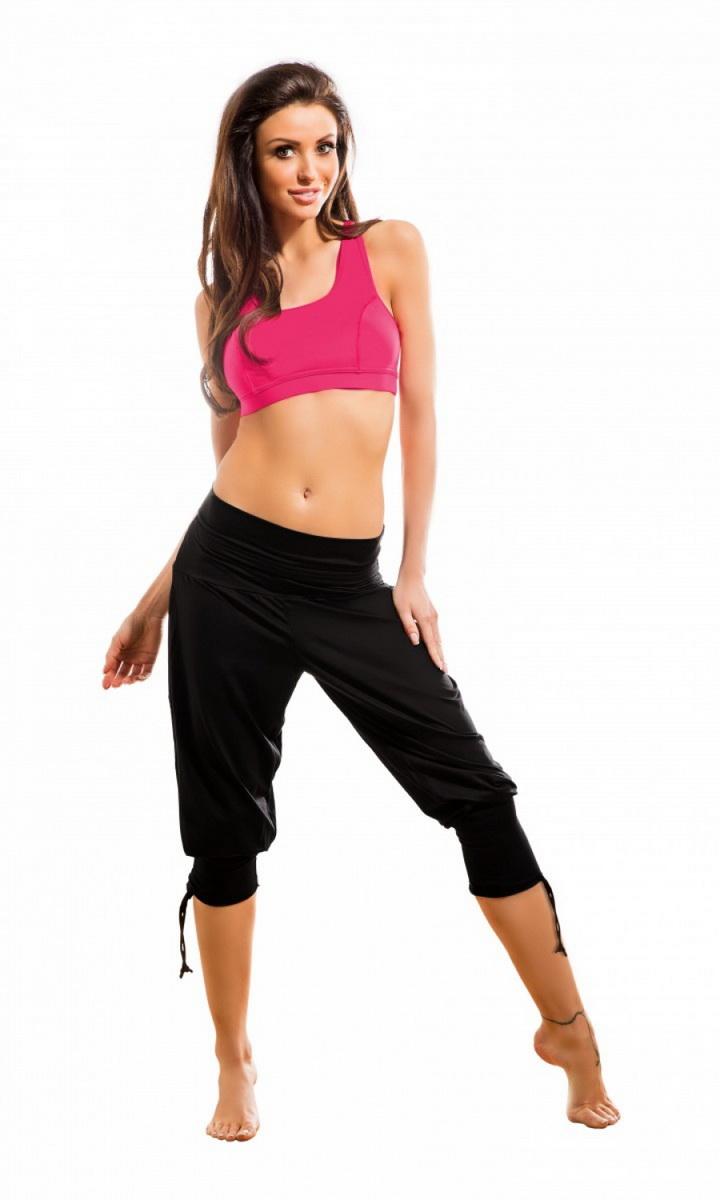 Dámské fitness nohavice gWinner Fantasia černé (velikost S)
