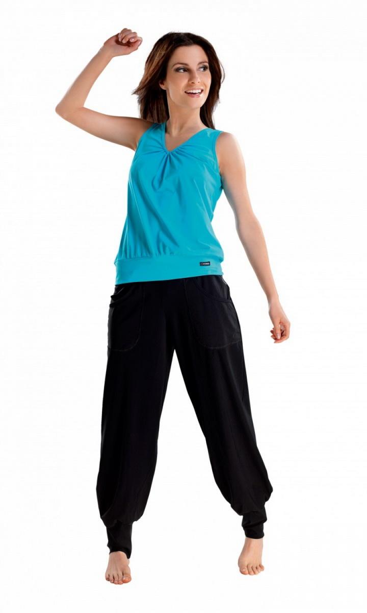Fitness kalhoty gWinner Electra černé (velikost L)