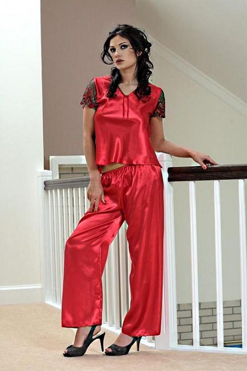 Dámské pyžamo DKaren Ewa červené (velikost L)