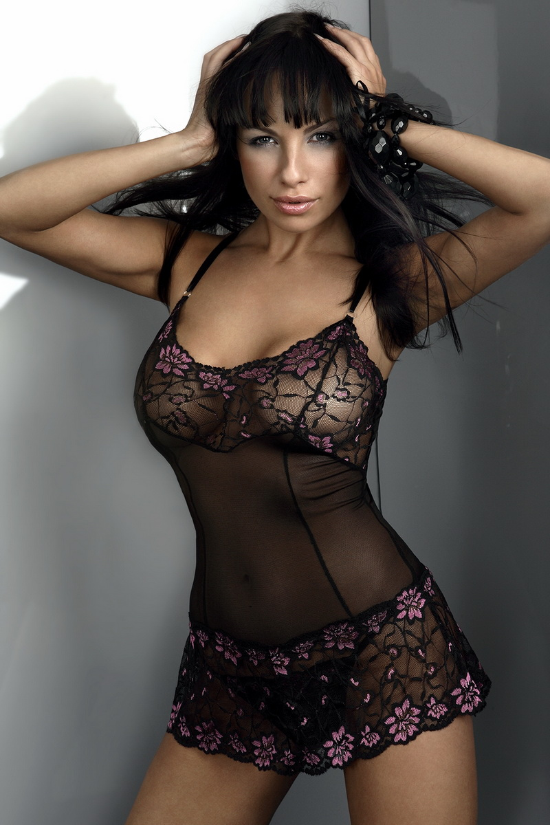 Košilka LivCo Corsetti Liliana černá (velikost S/M)