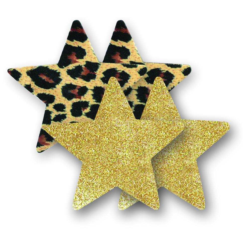 Ozdoby na bradavky - leopardí hvězdičky