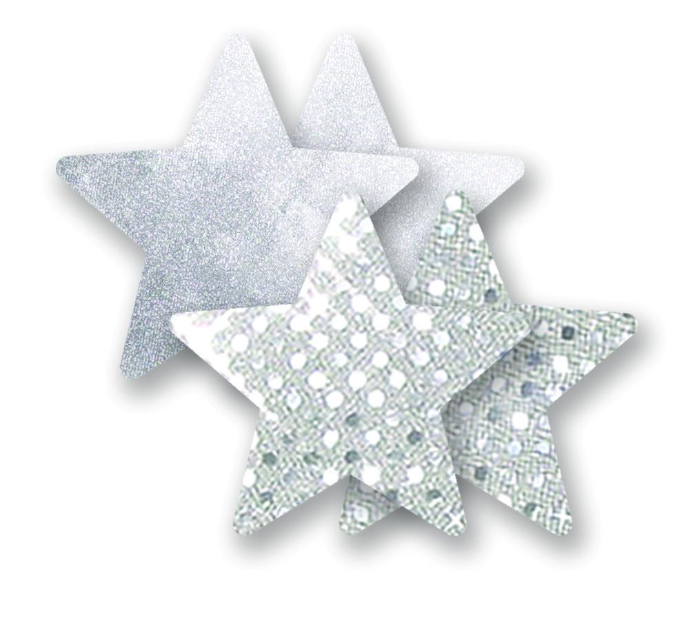 Ozdoby na bradavky - třpytivé hvězdičky