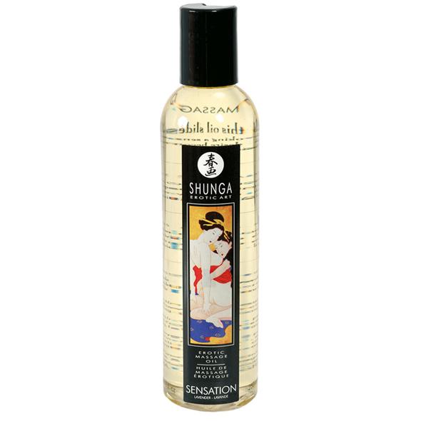 Erotický masážní olej Sensation Lavender Shunga (250 ml)