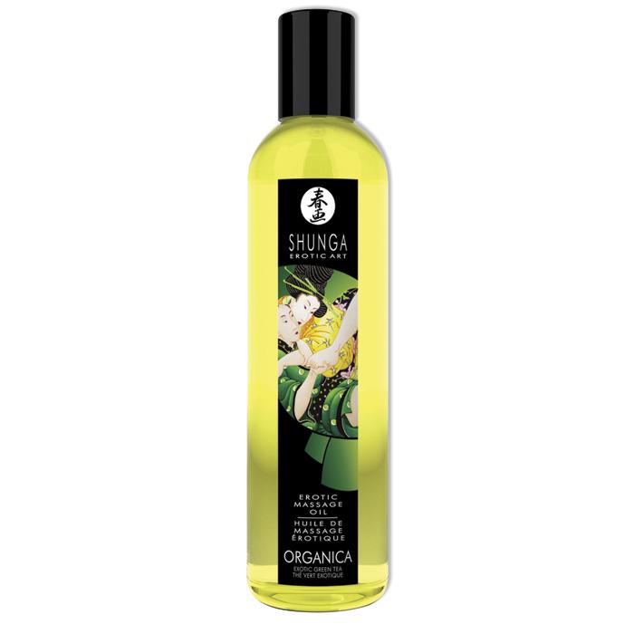 Organický masážní olej Green Tea Shunga (250 ml)