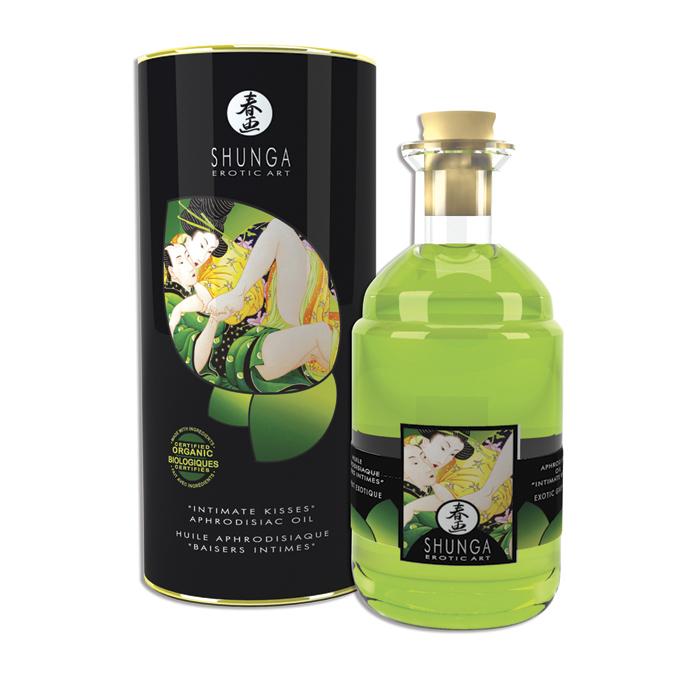 Afrodiziální olej Green Tea Shunga (100 ml)