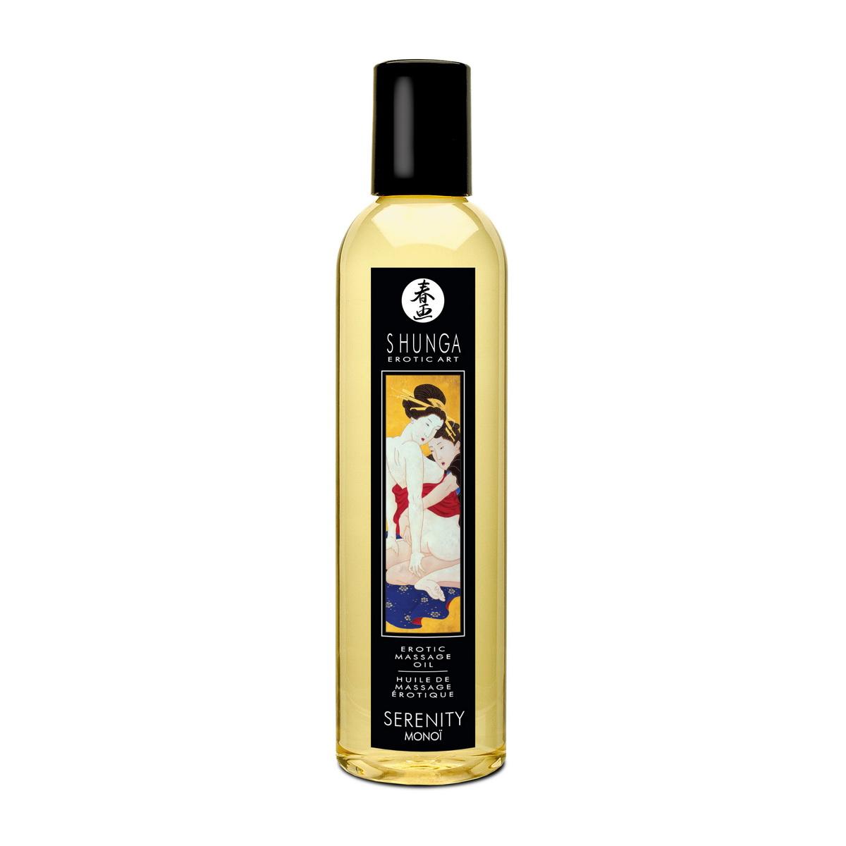 Erotický masážní olej Serenity Monoi Shunga (250 ml)