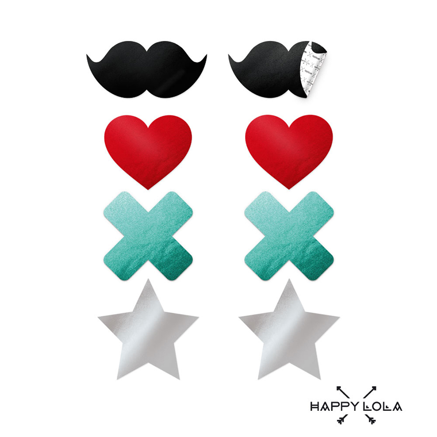 Happy Lola - Sexy nálepky na bradavky (4 páry)