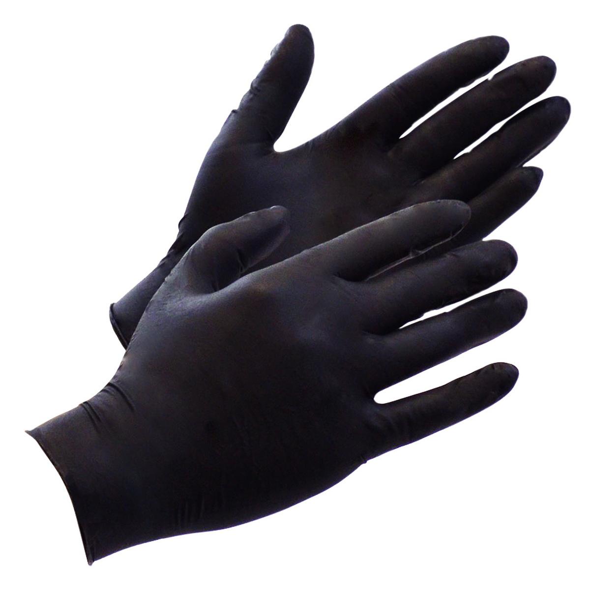 Černé latexové rukavice (100 ks) (velikost S)