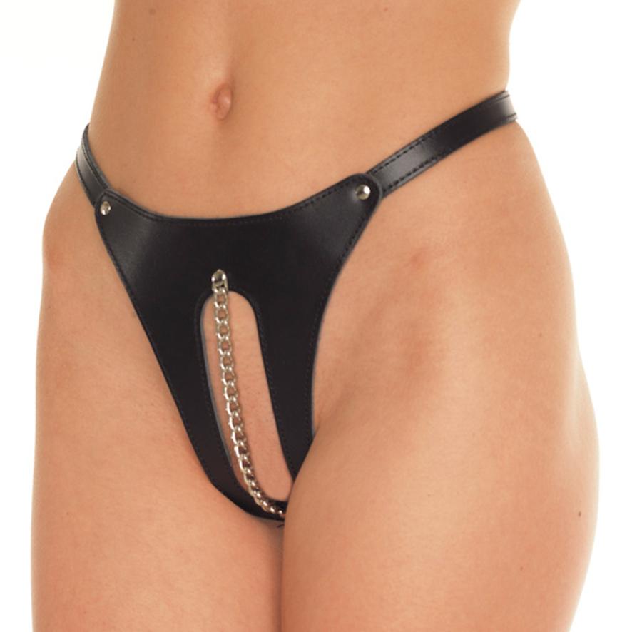 Otevřené kalhotky s řetízkem (velikost S/L)
